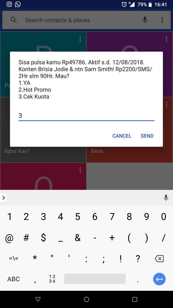 Pilihan Cek Kuota Simpati via 888
