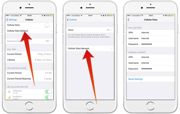 cara setting apn di ios iphone
