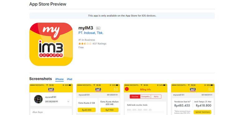Cara Cek Nomor Indosat Via Aplikasi IM3