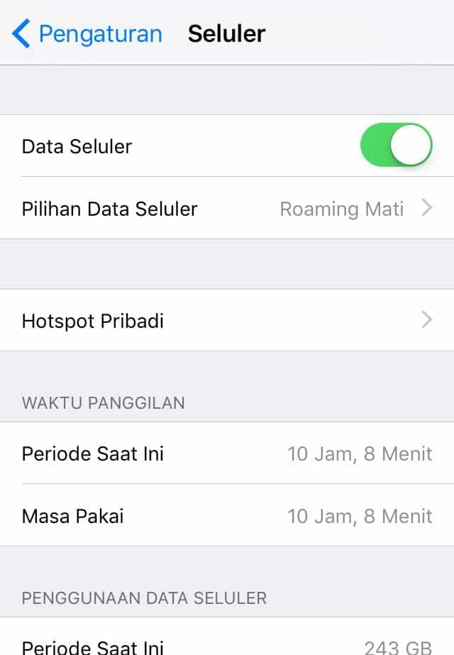 Cara Setting APN Indosat Di iPhone