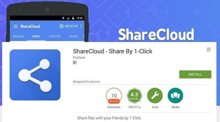 Aplikasi Sharecloud untuk mengirim aplikasi Android