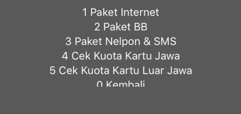 Gambar Hasil Cara Cek Voucher Paket Kuota Indosat Ketiga