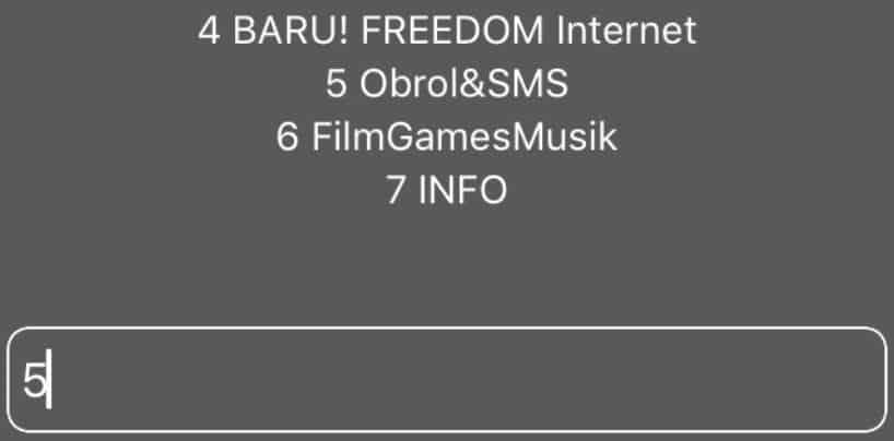 Hasil Cara Daftar Paket SMS Indosat Via Dial Up