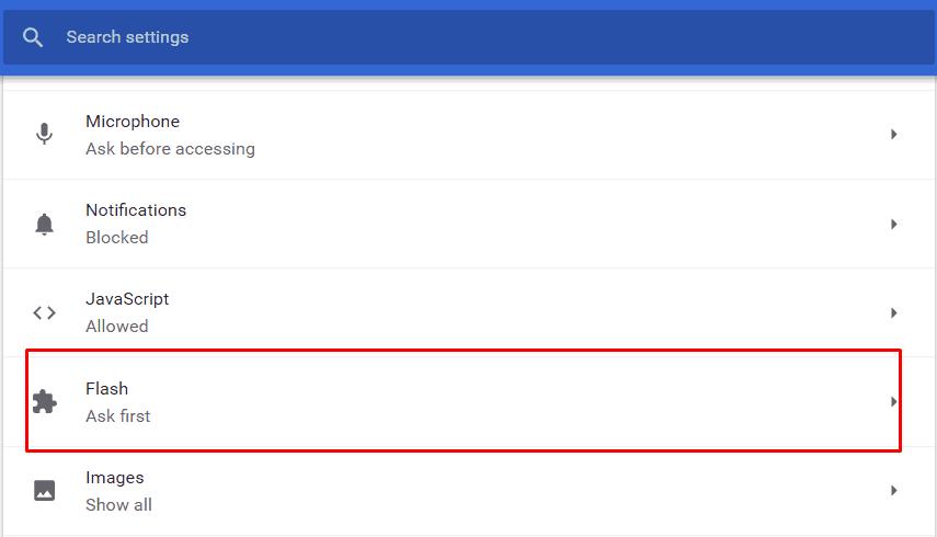 Klik Menu Flash Pada Chrome