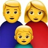 Arti emoticon keluarga dan anak