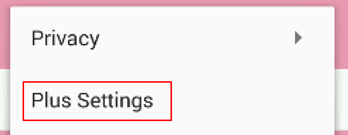 Buka plus settings pada WhatsApp plus