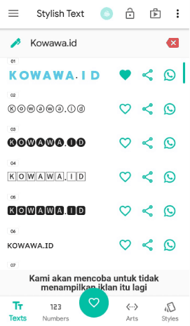 Cara Membuat tulisan font unik di aplikasi whatsapp