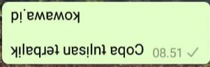 Cara Membuat tulisan terbalik di aplikasi whatsapp