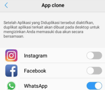 Clone Whatsapp pada vivo