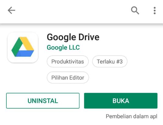 Download aplikasi Google drive