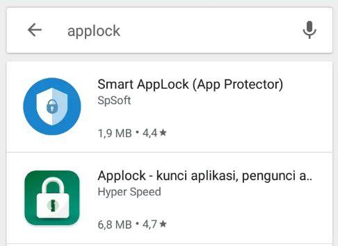 Gunakan applock