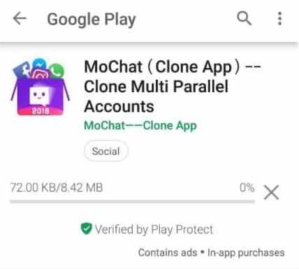INstall aplikasi mochat