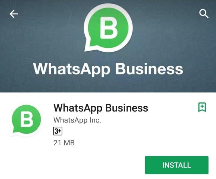 Install WhatsApp bisnis