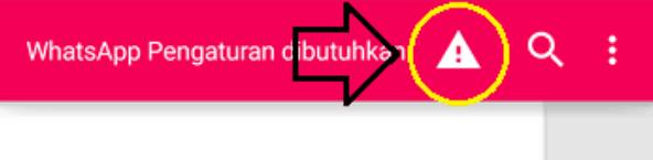 Klik tanda seru pada aplikasi Disa