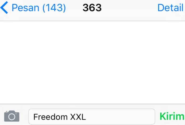 Langkah Cara Daftar Freedom Combo Via SMS
