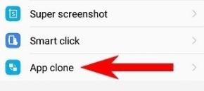 Masuk ke app clone pada vivo