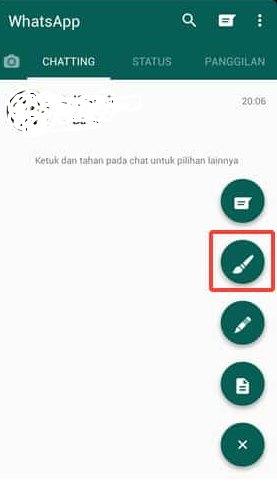 Pilih ikon kuas untuk ganti tema GB Whatsapp