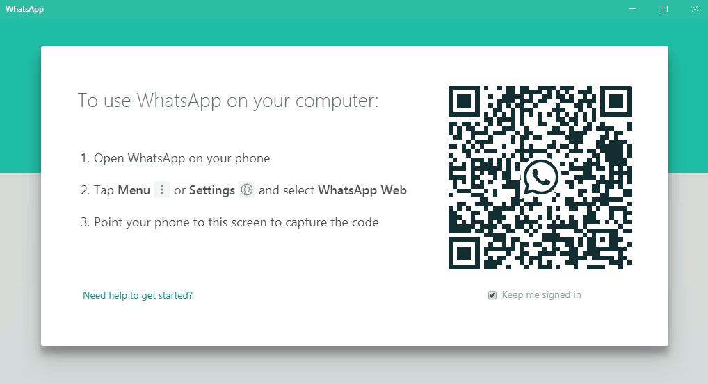 Scan barcode untuk whatsapp di laptop
