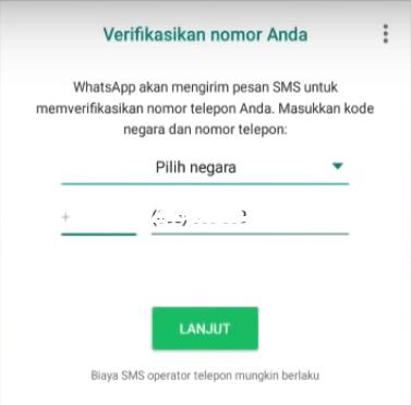 Verifiikasi nomor WhatsApp dengan receivesms