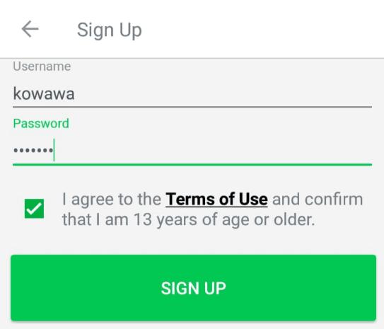 sign up aplikasi free text call