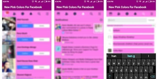 Aplikasi New Pink Colour For Facebook