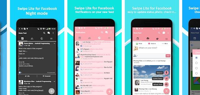 Aplikasi Super Swipe Theme For Facebook