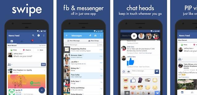 Aplikasi Swipe for Facebook