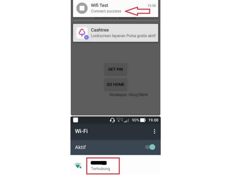 Cara ke-4 Via Aplikasi WiFi Test