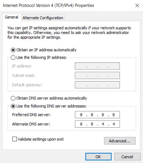 Cara ke-1 Gunakan Open DNS atau DNS Google