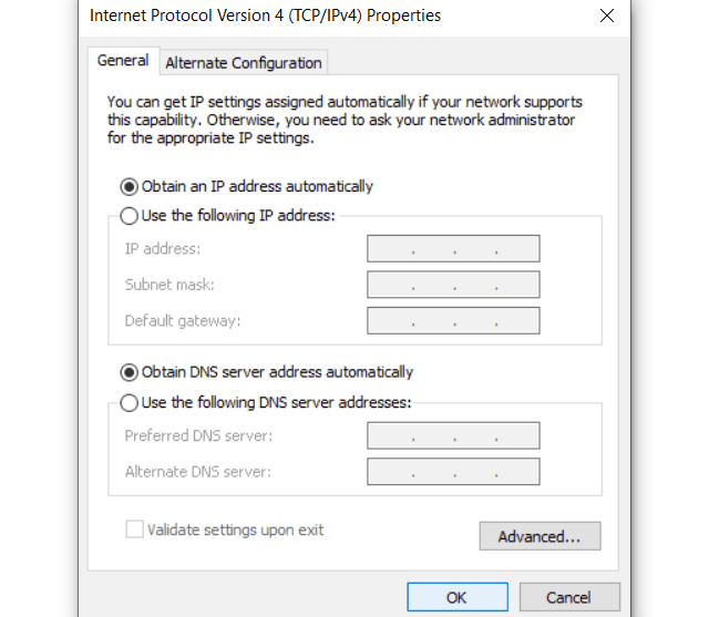Cara ke-1 Pastikan DNS Diperoleh Secara Otomatis