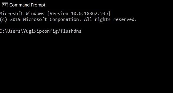 Cara ke-2 Flush DNS Cache