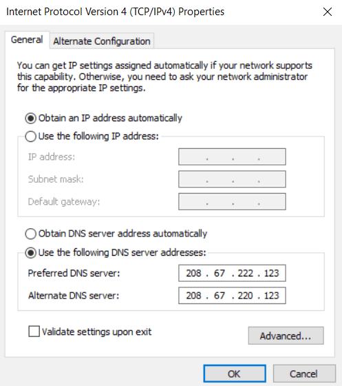 Cara ke-2 Gunakan Open DNS atau DNS Google