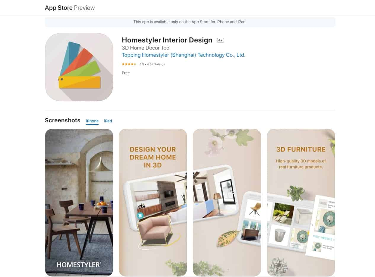 Aplikasi Homestyler Interior Design