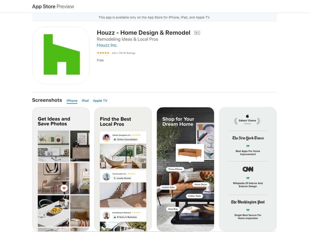 Aplikasi Houzz Interior Design Ideas