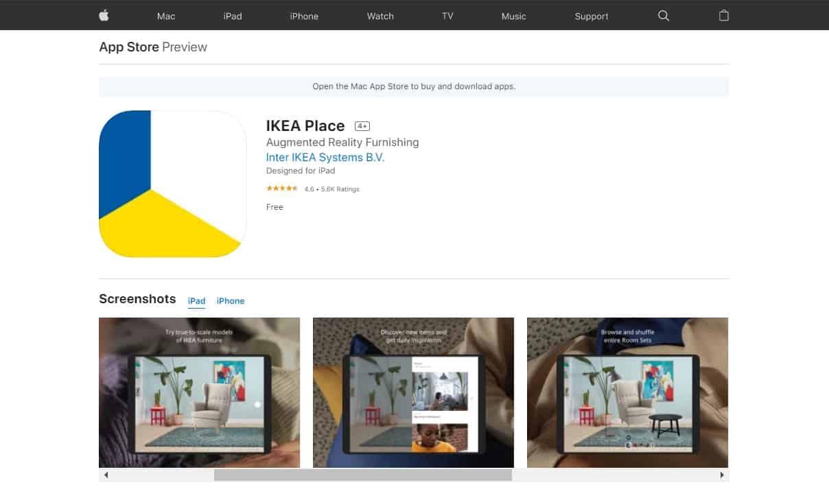 Aplikasi IKEA Place