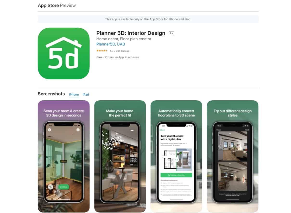Aplikasi Planning 5D